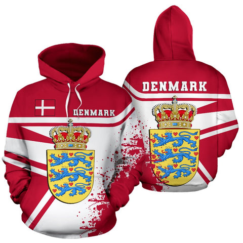 Image of Denmark Hoodie Painting Style Th52