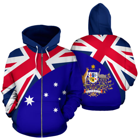 Australia Hoodie Wave Flag Color TH90