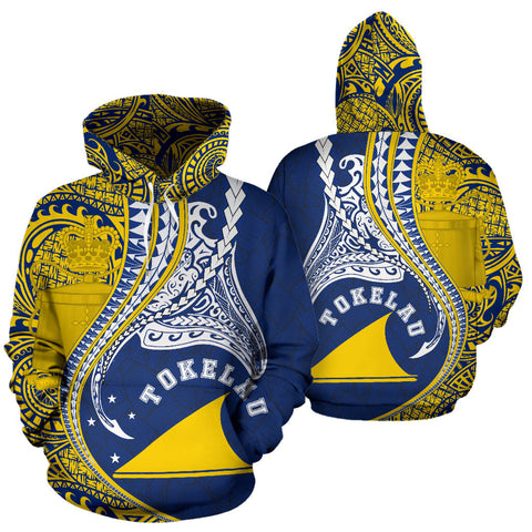 Tokelau All Over Hoodie Manta Polynesian