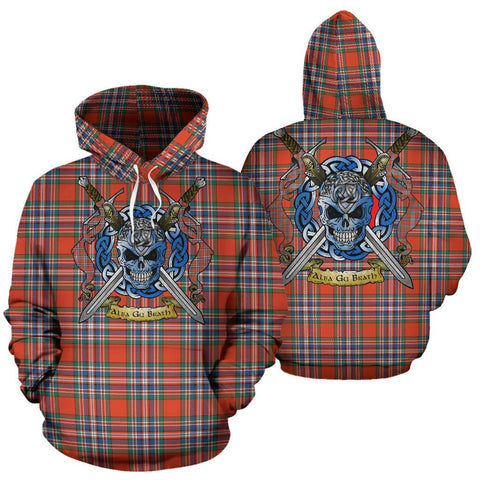 Image of MacFarlane Ancient Tartan Hoodie Celtic Scottish Warrior A79 | Over 500 Tartans | Clothing | Apaprel