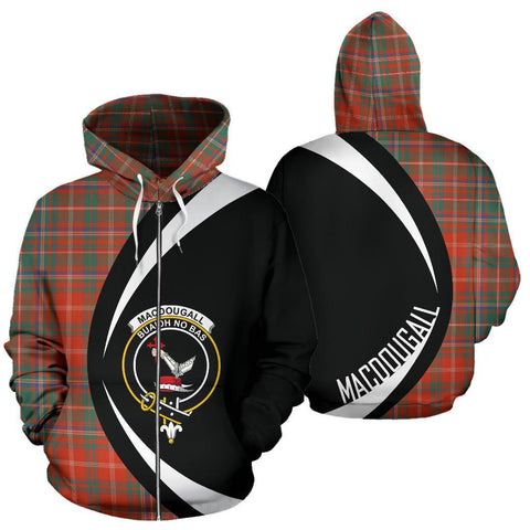 MacDougall Ancient Tartan Circle Zip Hoodie HJ4