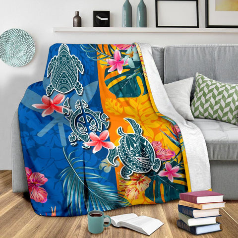 Image of Hawaii Premium Blanket Polynesian Turtle Special 2 | 1sttheworld