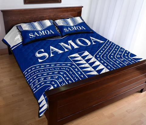 Manu Samoa Quilt Bed Set - Blue Version - BN12