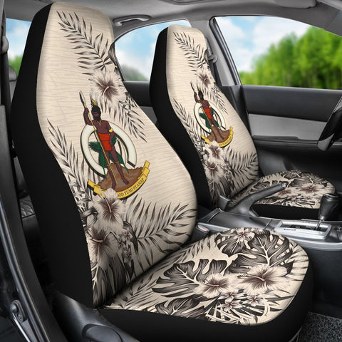 Vanuatu Car Seat Covers - The Beige Hibiscus (Set of Two) | High Quality