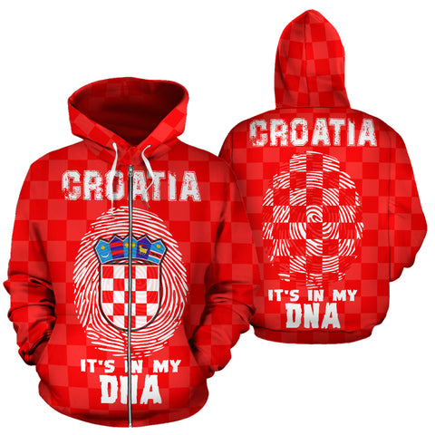 Croatia is Always in My DNA Zipper Hoodie A7