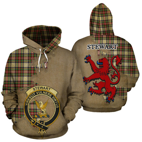 Stewart Dress Modern Clan  Tartan Hoodie