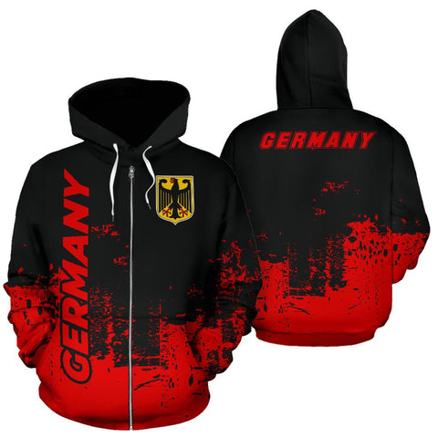 Germany All Over Zip-Up Hoodie - Smudge Style