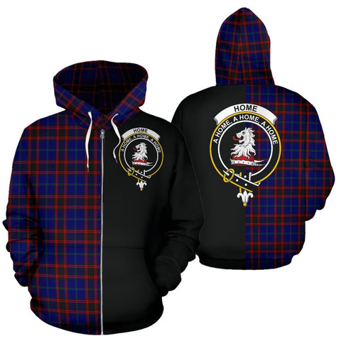Image of (Custom your text) Home Modern Tartan Hoodie Half Of Me TH8