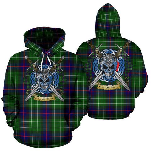 Leslie Hunting Tartan Hoodie Celtic Scottish Warrior A79 | Over 500 Tartans | Clothing | Apaprel