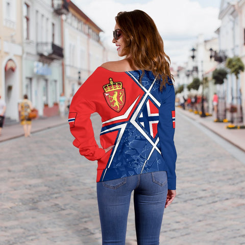 Norway Women's Off Shoulder Sweater - Norway Legend