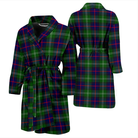 Image of Sutherland Modern Tartan Men's Bathrobe - Bn04