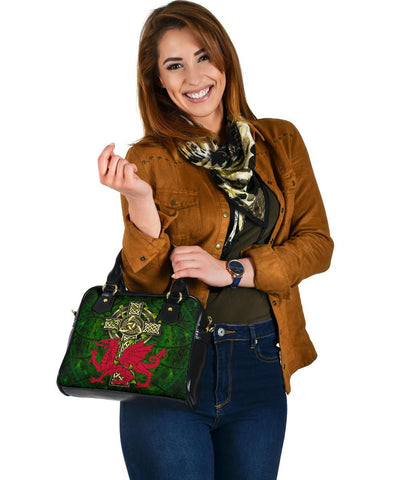 Wales Celtic Shoulder Handbag - Cymru with Celtic Cross