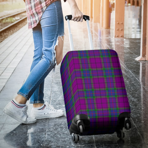 Image of Wardlaw Modern Tartan Luggage Cover Hj4 | Love The World