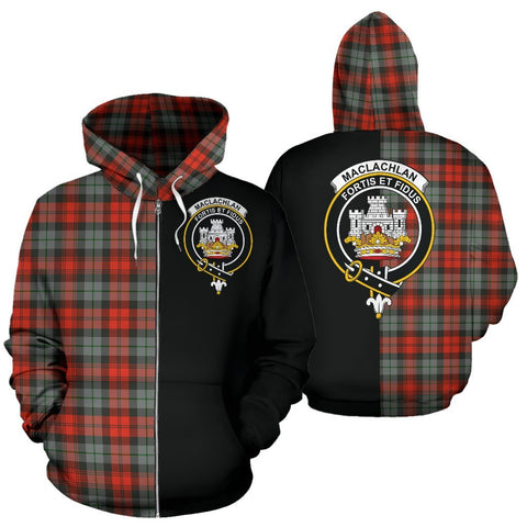 Image of (Custom your text) MacLachlan Weathered Tartan Hoodie Half Of Me TH8