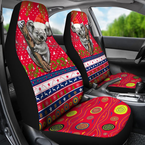Australia Christmas Aboriginal Car Seat Covers Koala Version K13