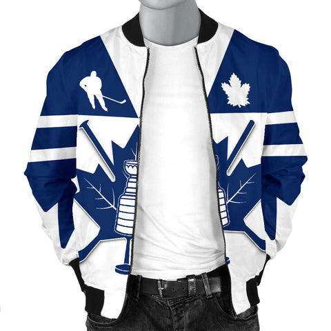 Canada Hockey Maple Leaf Champion Men Bomber Jacket K4
