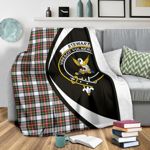 Image of Stewart Dress Modern Tartan Clan Crest Premium Blanket Hj4