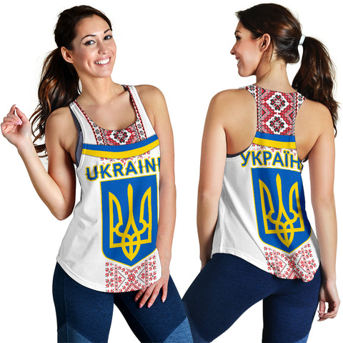 Ukraine Women Racerback Tank - Vibes Version K8