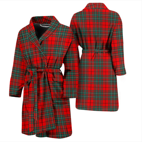 Cumming Modern Bathrobe - Men Tartan Plaid Bathrobe Universal Fit