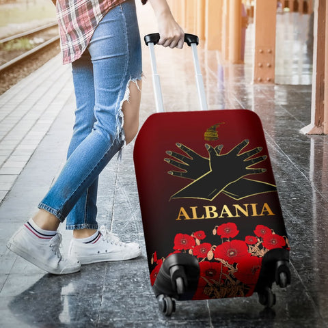 Albania Flag Double Eagle Hand Luggage Covers A15