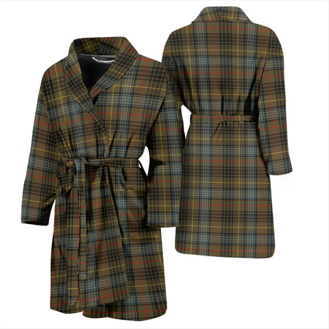 Stewart Hunting Weathered Bathrobe - Men Tartan Plaid Bathrobe Universal Fit