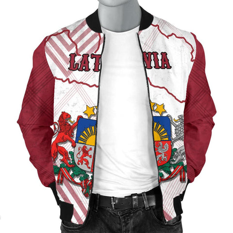 Latvia Men Bomber Jacket K5