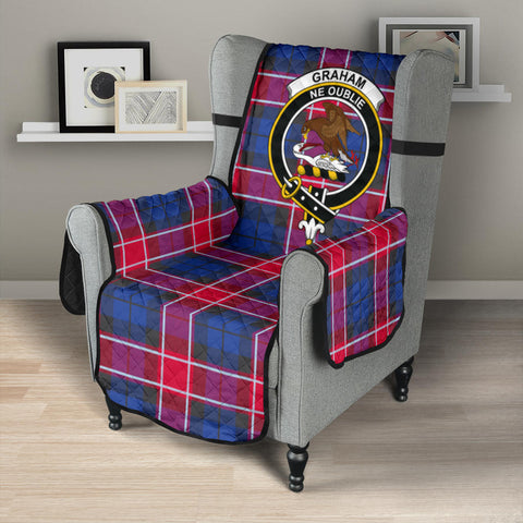 Graham of Menteith Red Tartan Clan Badge Sofa Protector K7