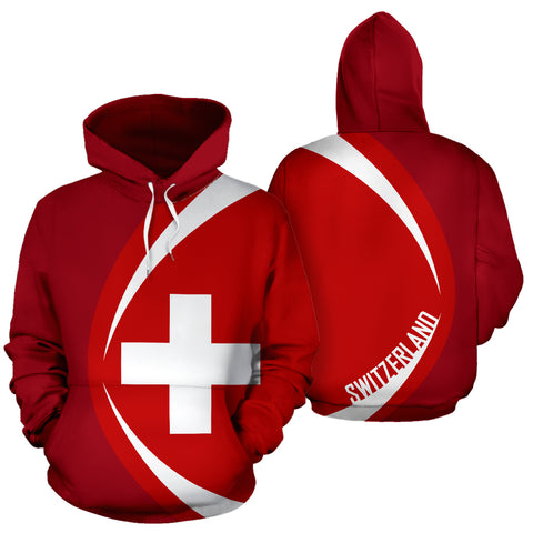 Switzerland Flag Hoodie - Circle Style JT6