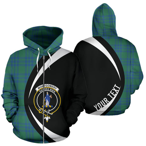(Custom your text) Montgomery Ancient Tartan Circle Zip Hoodie HJ4