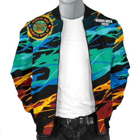 Image of Australia Men's Bomber Jacket - Naidoc Always Was, Always Will Be - BN17