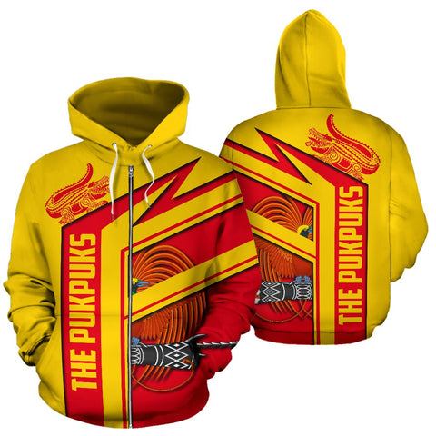 The Pukpuks - Papua New Guinea Air Zip-up Hoodie | 1sttheworld.com