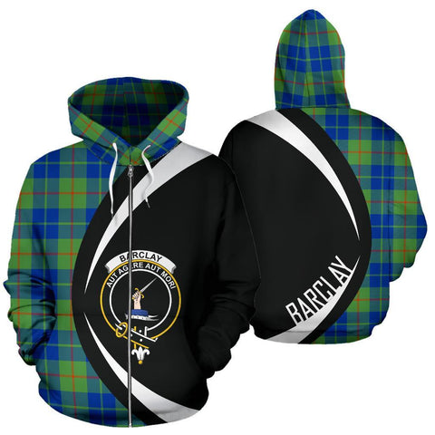 Barclay Hunting Ancient Tartan Circle Zip Hoodie HJ4