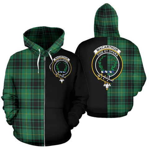 (Custom your text) MacArthur Ancient Tartan Hoodie Half Of Me TH8