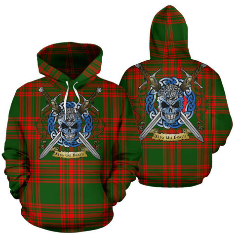 Menzies Green Modern Tartan Hoodie Celtic Scottish Warrior A79 | Over 500 Tartans | Clothing | Apaprel