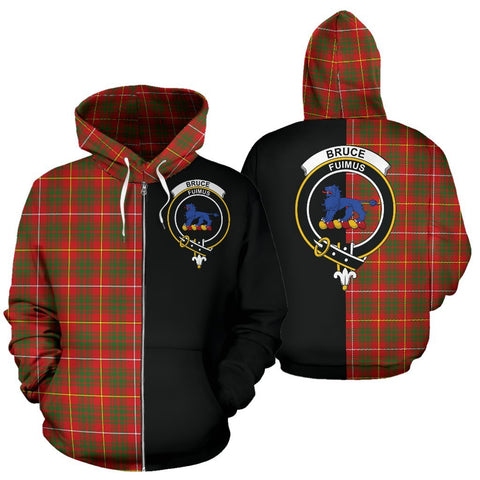 Image of (Custom your text) Bruce Modern Tartan Hoodie Half Of Me TH8