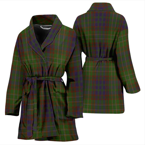 Cunningham Hunting Modern Bathrobe - Women Tartan Plaid Bathrobe Universal Fit
