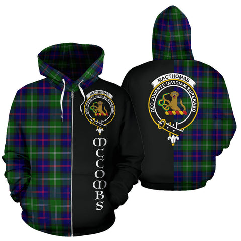 Image of MacThomas Modern Tartan Hoodie Half Of Me - McCombs TH8