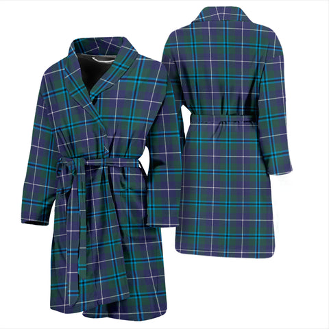 Douglas Modern Bathrobe - Men Tartan Plaid Bathrobe Universal Fit