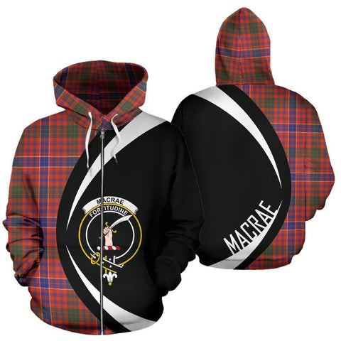 MacRae Ancient Tartan Circle Zip Hoodie HJ4