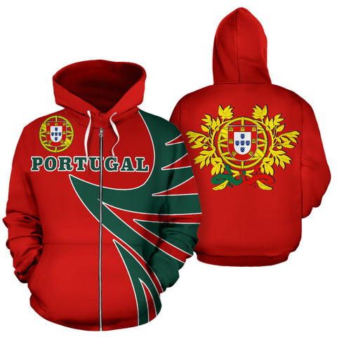 Portugal Sport Zip Up Hoodie - Warrior Style J9