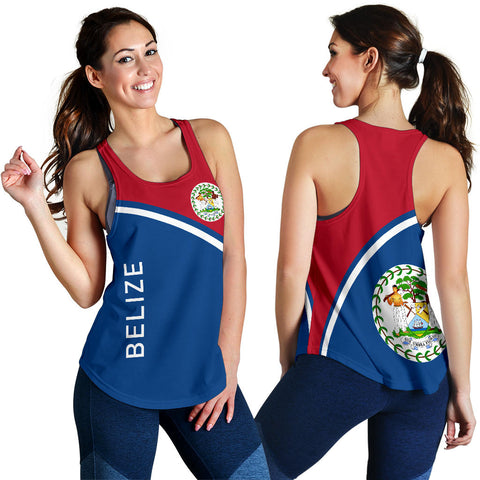 Image of Belize Women's Racerback Tank - Curve Version