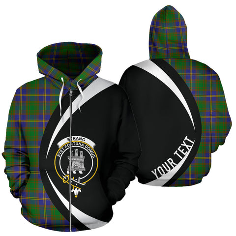 (Custom your text) Strange of Balkaskie Tartan Circle Zip Hoodie HJ4