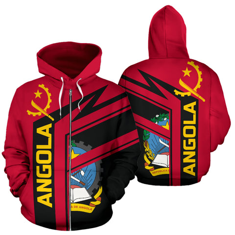 Angola Air Zip-Up Hoodie | 1sttheworld.com