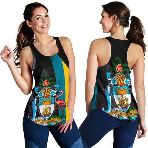 Bahamas Flag Coat Of Arm Women's Racerback Tank