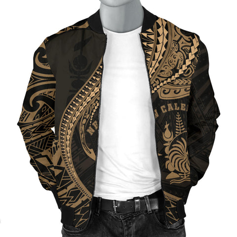 Image of New Caledonia Men's Bomber Jacket Kanaloa Tatau Gen NC (Gold) TH65