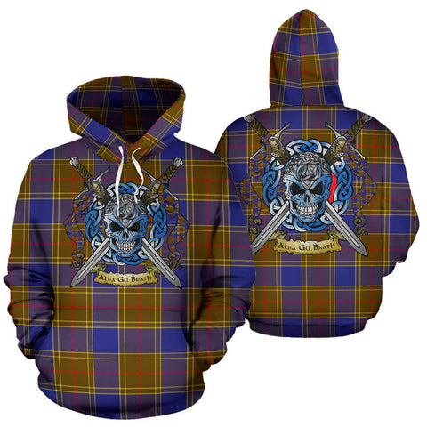 Image of Balfour Modern Tartan Hoodie Celtic Scottish Warrior A79 | Over 500 Tartans | Clothing | Apaprel