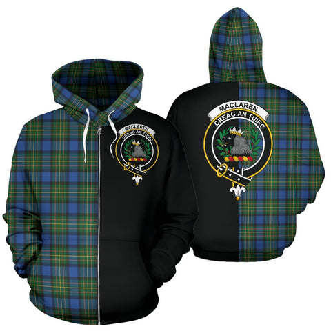 (Custom your text) MacLaren Ancient Tartan Hoodie Half Of Me TH8
