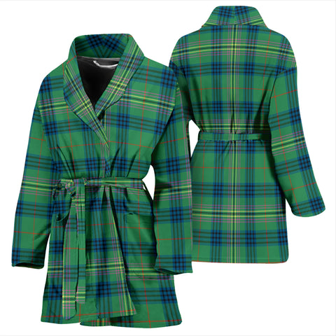 Kennedy Ancient Bathrobe - Women Tartan Plaid Bathrobe Universal Fit