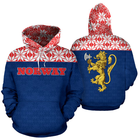 Image of Norway All Over Hoodie, Norway, All Over Hoodie, Norway Hoodie