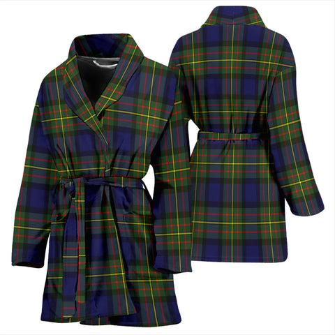 Image of Maclaren Modern Bathrobe - Women Tartan Plaid Bathrobe Universal Fit